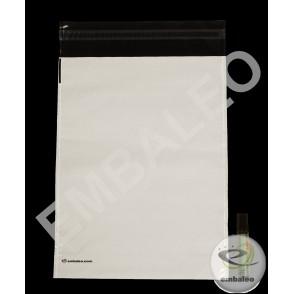 Pochettes plastiques opaques à soufflet Embaleo n°1 27,5 x 35 cm 60µ
