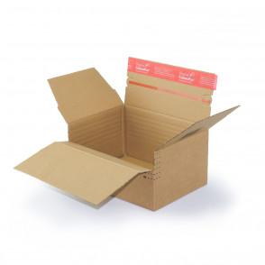 Carton à hauteur variable 22,9 x 16,4 cm à bande autocollante