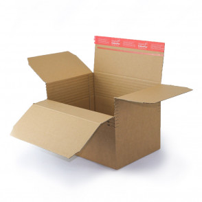 Carton à hauteur variable 30,4 x 21,6 cm à bande autocollante